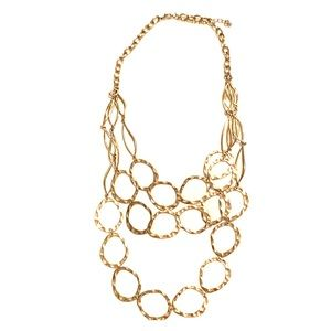 Gold multilayer necklace